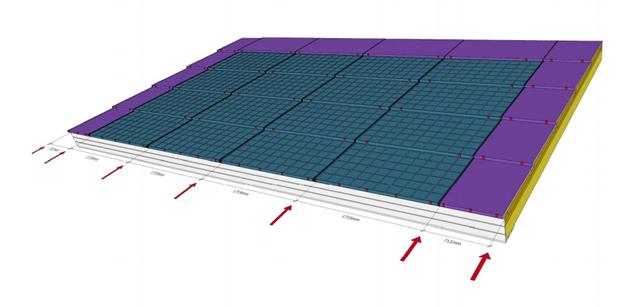 Tegning av Solar Roof integrert solcelleanlegg
