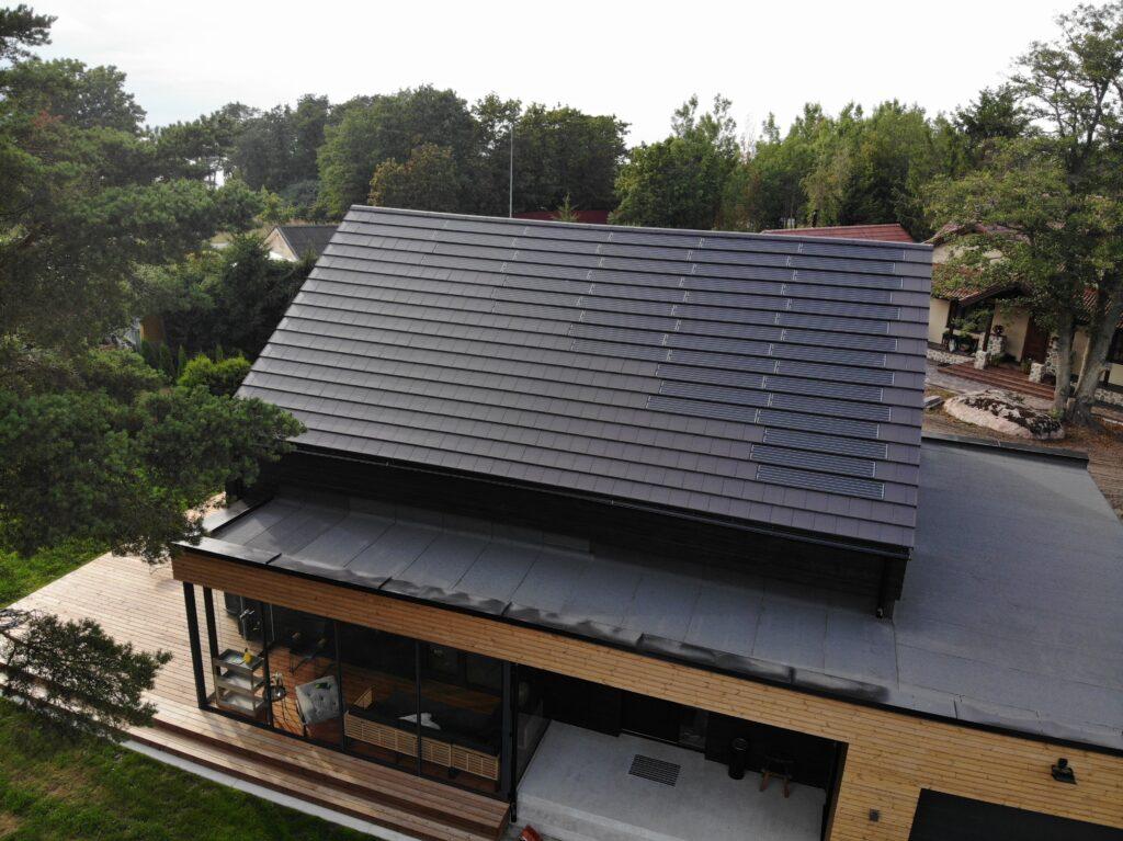 Tiled Roof integrert solcelleanlegg