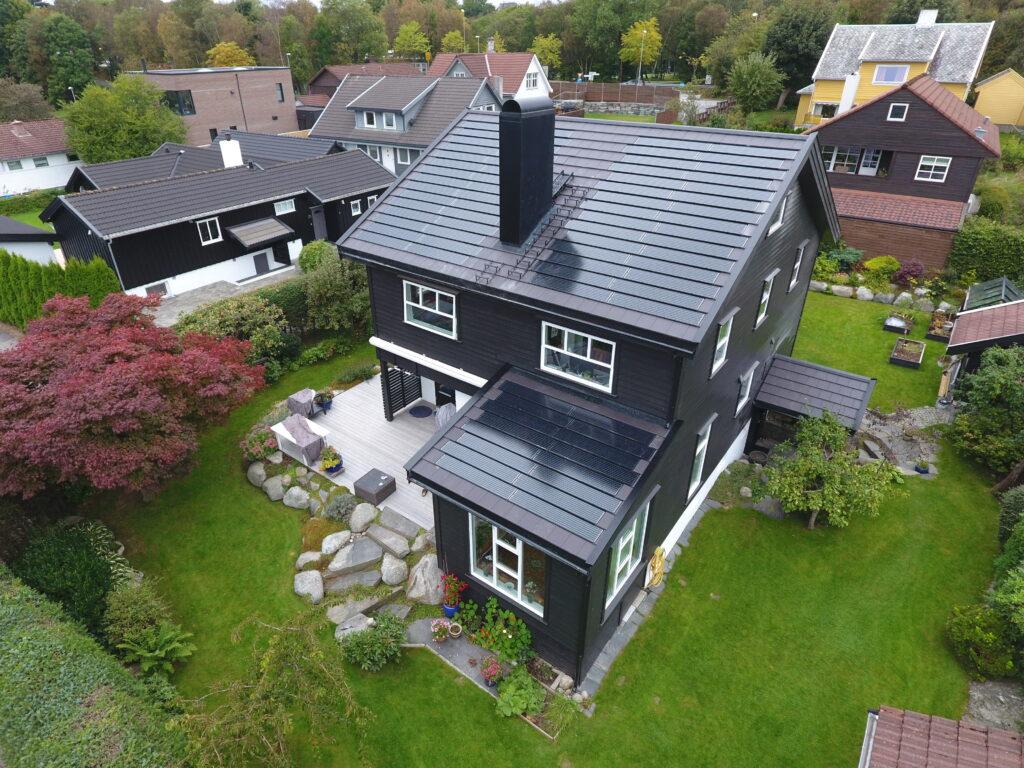 Tiled Roof integrert solcelle